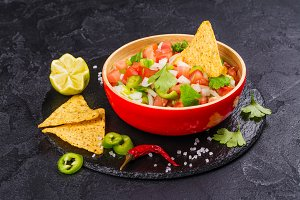 Mexican Pico de Gallo salsa