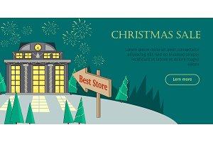 Christmas Sale Flat Style Vector Web