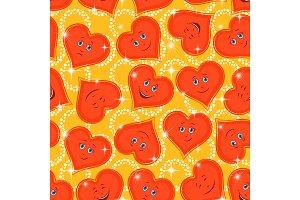 Seamless Pattern, Valentine Hearts