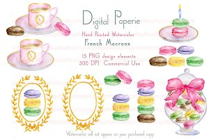French Macarons Clipart
