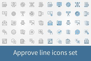 Approve icons set