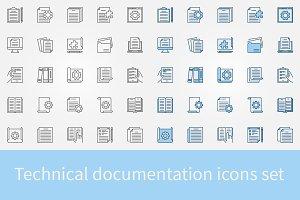 Technical documentation icons set