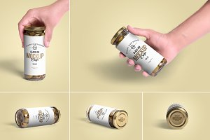 Olives Glass Jar Mockups