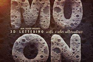 Moon - 3D Lettering