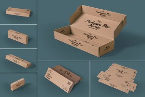 Rectangular Packaging Box Mockups