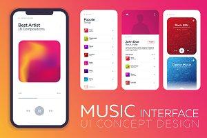 Music Interface UI