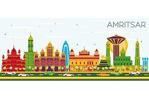 Amritsar India City Skyline