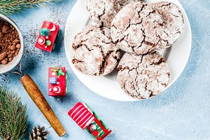 Christmas chocolate cookies
