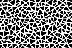 Black white mosaic seamless pattern