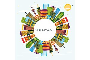 Shenyang China City Skyline