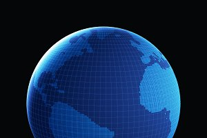 Planet earth, global graphic model i