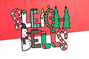 Sleigh Bells - Christmas Font