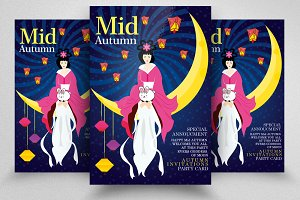 Mid Autumn Flyer Templates Vol:12
