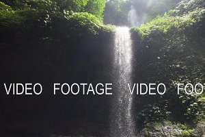 Beautiful tropical waterfall. Bali