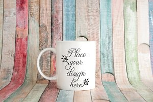 Rustic White Coffee Mug mockup 11oz
