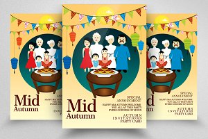 Mid Autumn Flyer Templates Vol:13