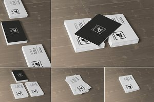 Stacked Business Card Mockups
