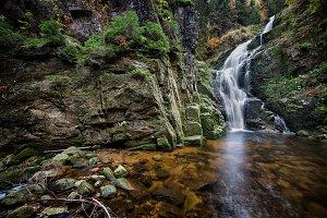 Kamienczyk Waterfall in Poland