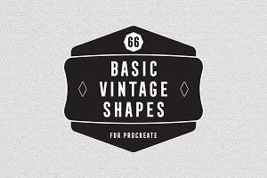 66 Basic Vintage Shape for Procreate