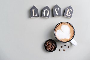 Love Cozy Concept, Cup of Coffee