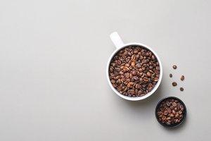 Coffee Beans Mug on Bright Beige