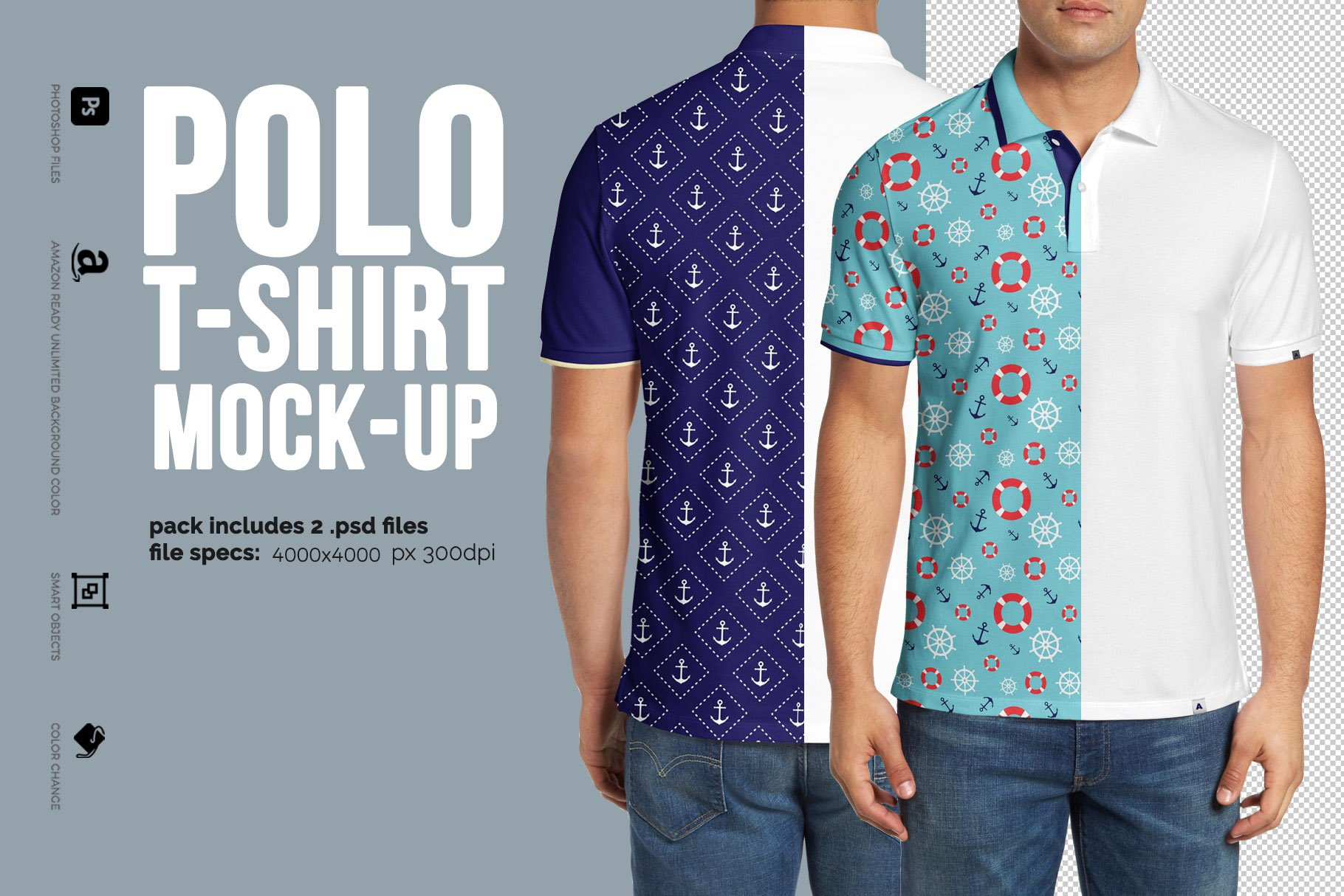 Collar T Shirt Mockup Free Download