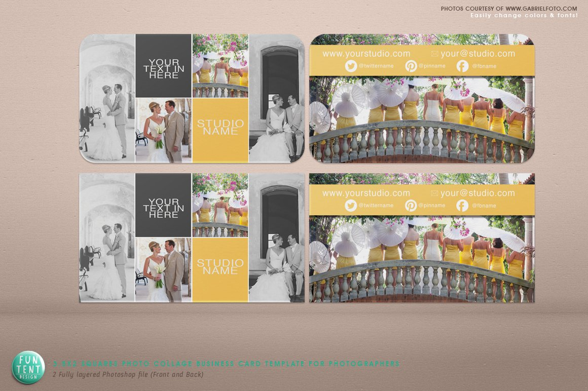 Squares Photo Collage Business Card ~ Business Card Templates ...