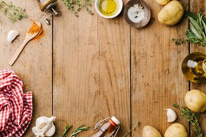 Spices and ingredients for cooking o