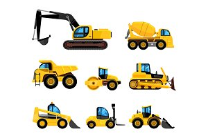 Construct machines. heavy machinery