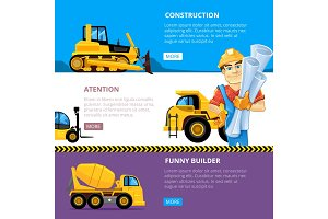 construct machines web banners