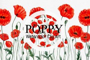 POPPY- clip art.