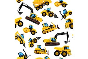 construct machines seamless pattern