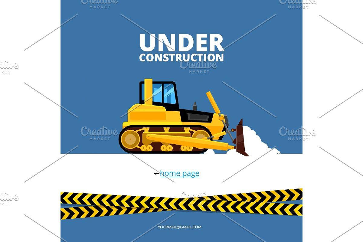 Under Construction Web Page Illustrations Creative Market