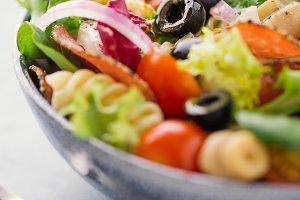 Tasty italian antipasto salad