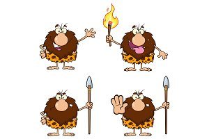 Male Caveman Character Collection