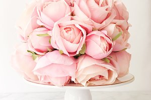 Pink Rose Wedding Stock Photo