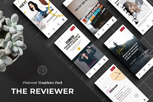 The Reviewer Pinterest Templates Set