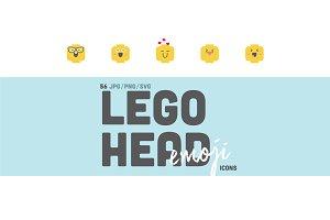 56 Lego Head Emoji Clipart