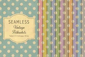 Vintage seamless polkadot patterns