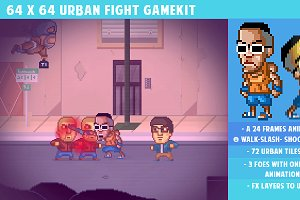 64x64 Urban Fight gamepack
