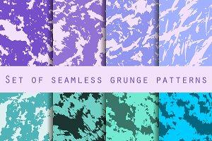 Grunge set of seamless pattern