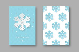 Christmas holiday posters with paper