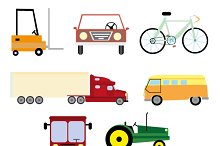 Vector illustration vehicle and tran