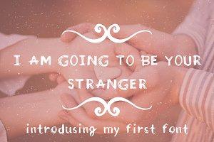Stranger. Handdrawn scetchy font