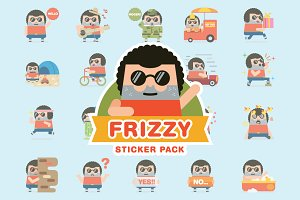 Frizzy Sticker Pack
