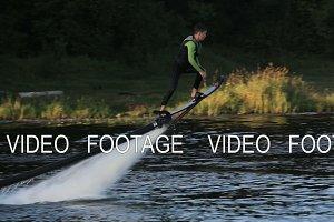 Hover board rider.Fly board rider.