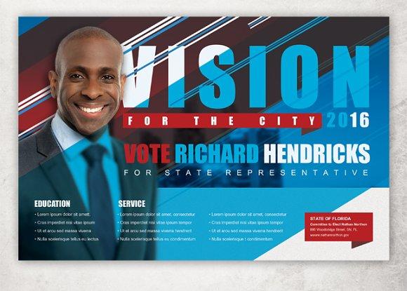 vision political flyer template flyer templates creative market