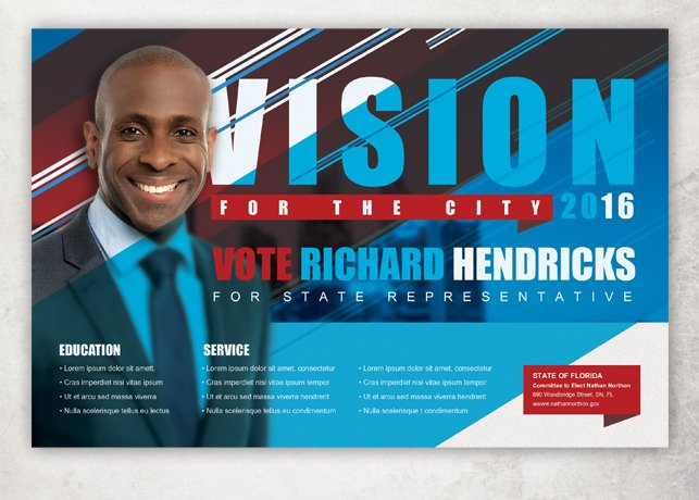 Vision Political Flyer Template Flyer Templates on Creative Market – Political Flyer Template