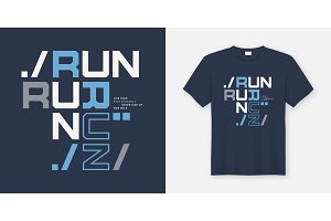 Run wild t-shirt and apparel design