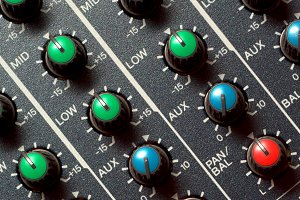 Colorful sound mixer